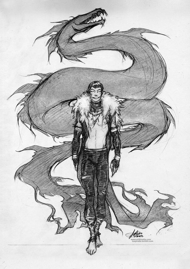 The Serpent Jormungandr by croaky