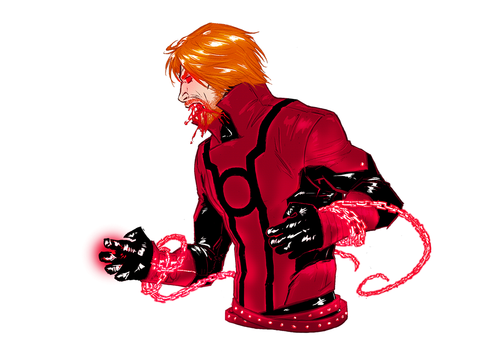 Guy Gardner - Looking good in red actually by croaky