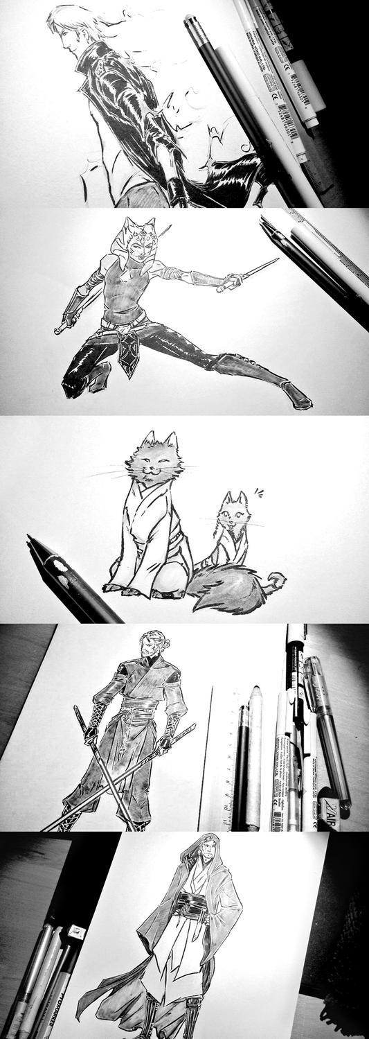 Sketchavember 2016 #1-4 by croaky
