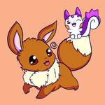 Eevee and Pachirisu