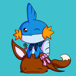 Eevee and Mudkip