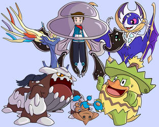 5th Commission - Boris' Current VGC Team by Eriniin