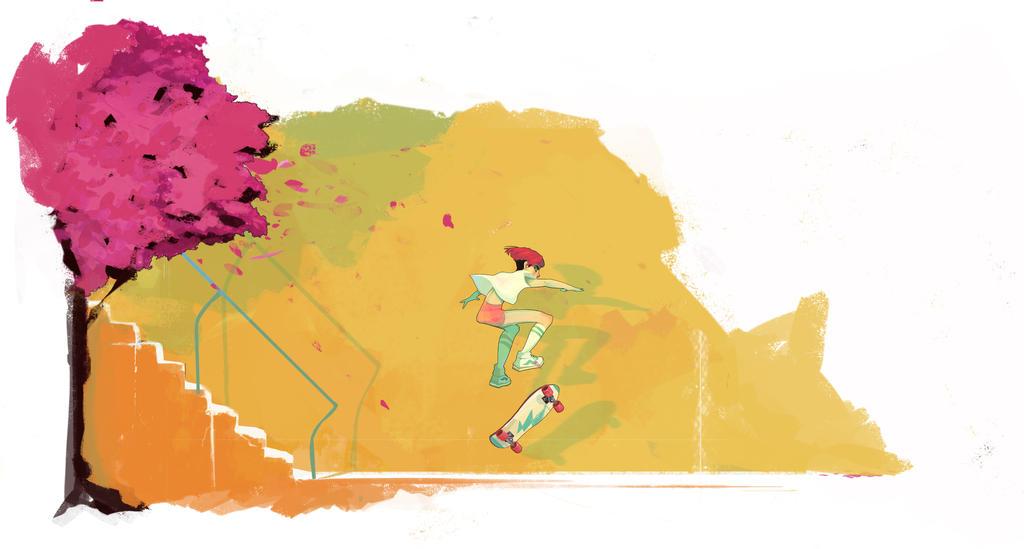 Skate Trick by Chiara-Maria