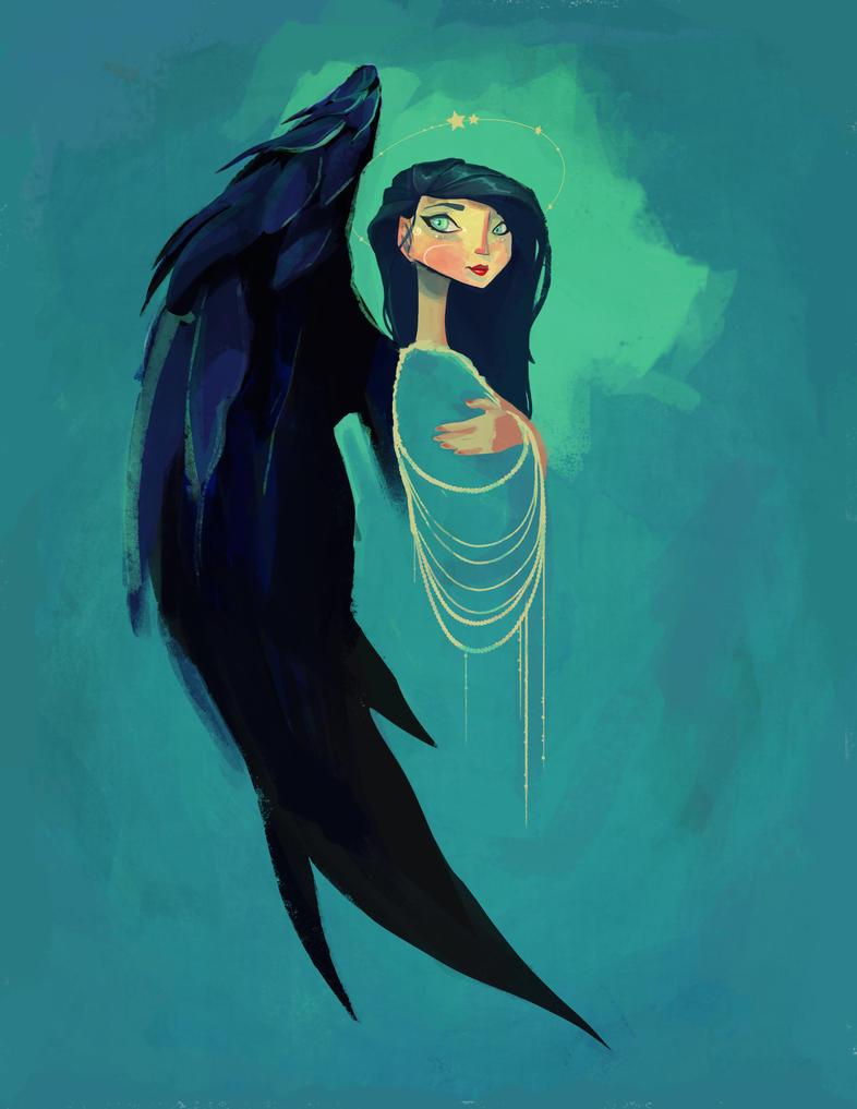 Black - Winged Angel by Chiara-Maria