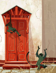 Monkey Door by Chiara-Maria