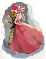 Prince Hot Bod and Lady Quietbottom by Chiara-Maria