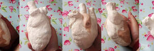Anatomical Heart Hip Flask WIP Turnaround FOR SALE
