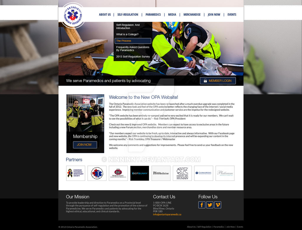 Ontario Paramedic Website by ninninny