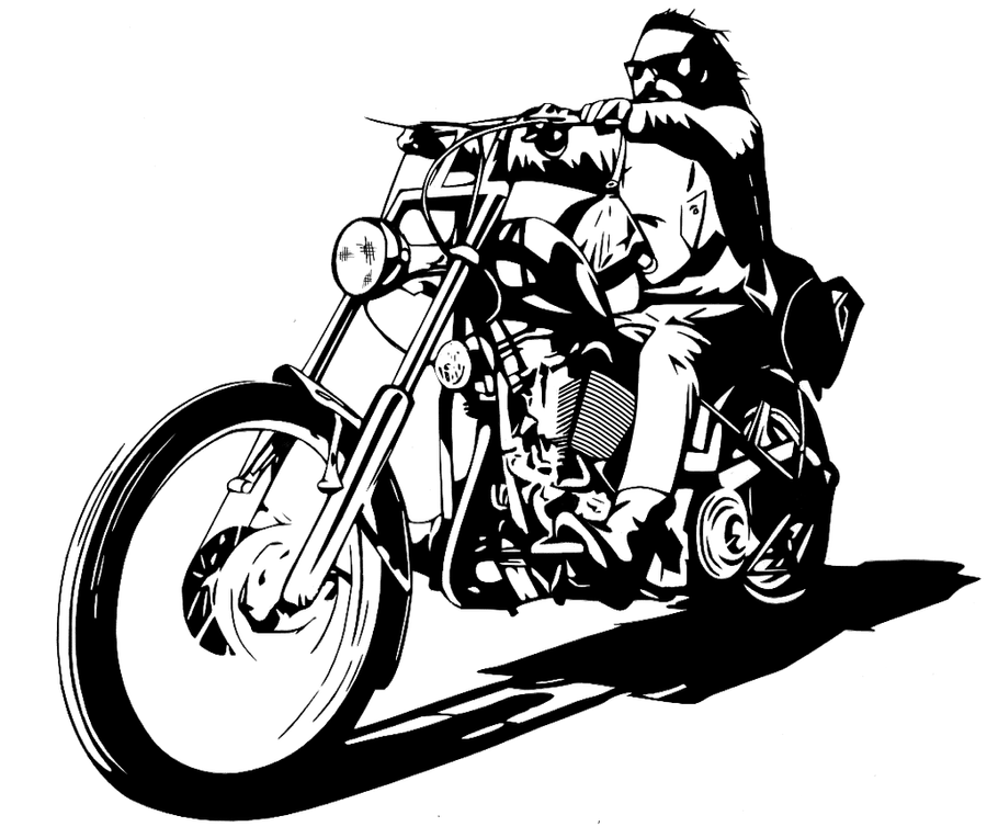 Billy Easy Rider Monochrome Vector By Timdallinger On