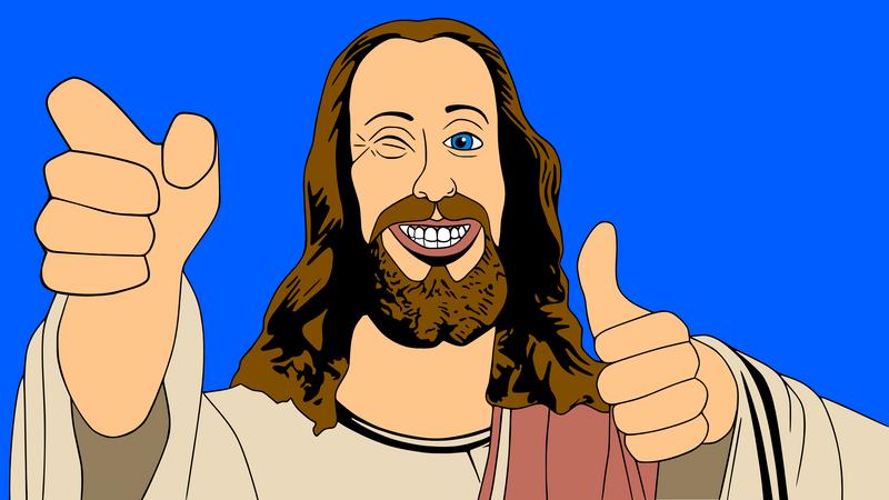 Buddy Christ Illustration by timdallinger on DeviantArt