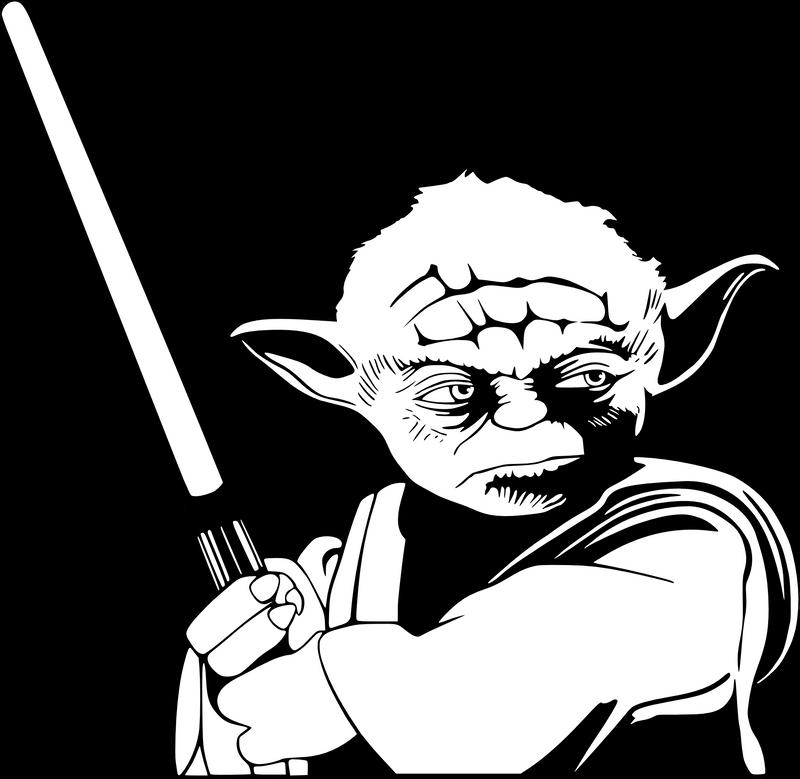 Line Art Yoda : Yoda monochrome by timdallinger on deviantart