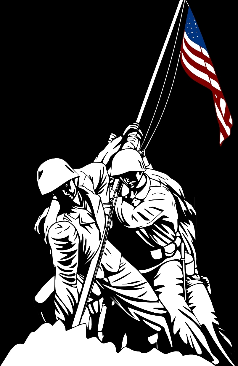 Iwo Jima Memorial Color Vector Illutration by timdallinger