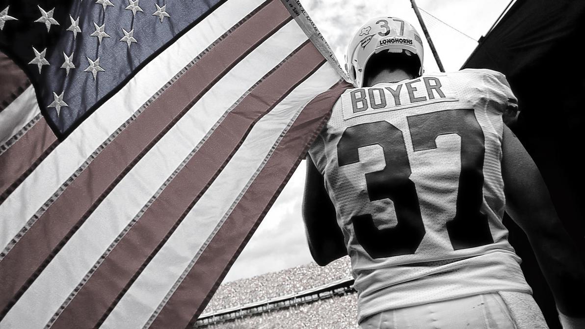 Nate Boyer UT USA Flag Wallpaper by timdallinger