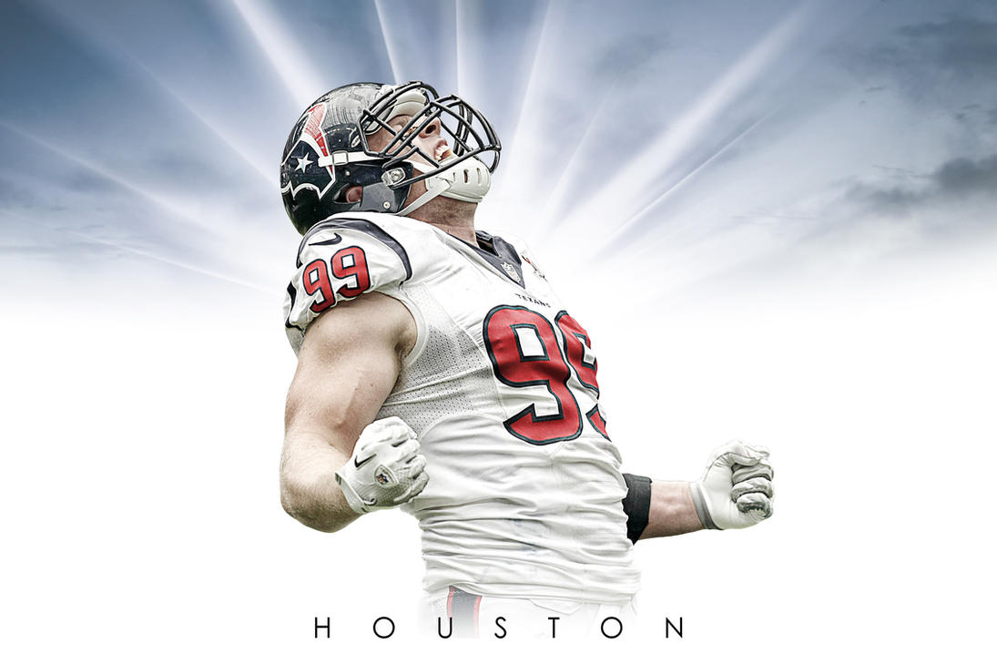 JJ Watt Houston Texan Sunburst Wallpaper by timdallinger