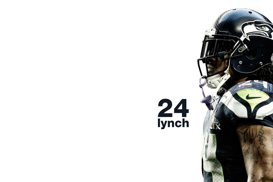 Marshawn Lynch Seattle Seahawks By Timdallinger