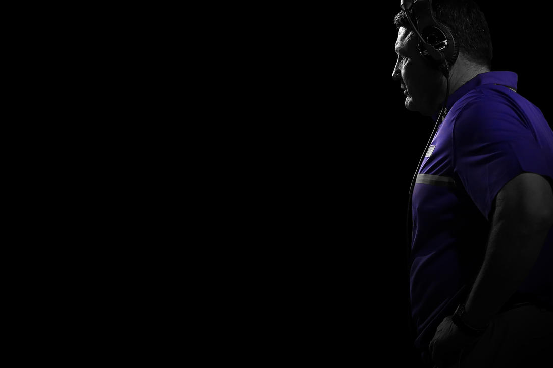 Coach Orgeron High Contrast Wallpaper by timdallinger