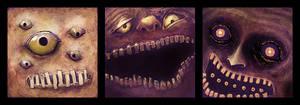 3 monstrosities - day 22-24 by memoriesofnam