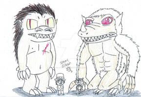 Kaiju Devilbull and Lincoln