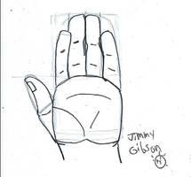 my DA Hand Tutorial sketch entry