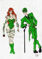 Riddler n Ivy by woper4