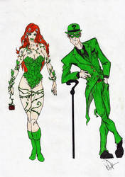 Riddler n Ivy by woper4