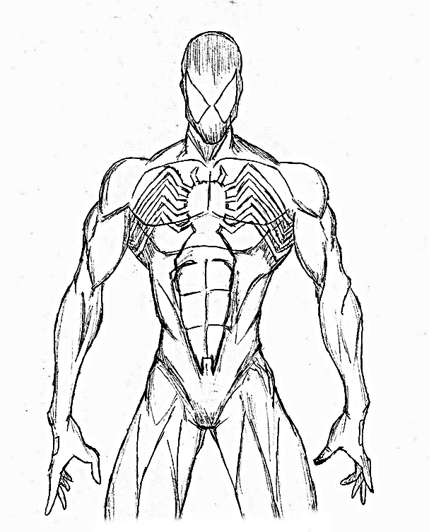 black suit spiderman coloring pages - spiderman symbiote by woper4 on deviantart