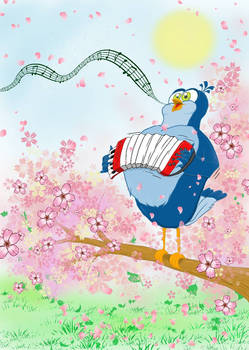 The Accordion-Bird in Spring