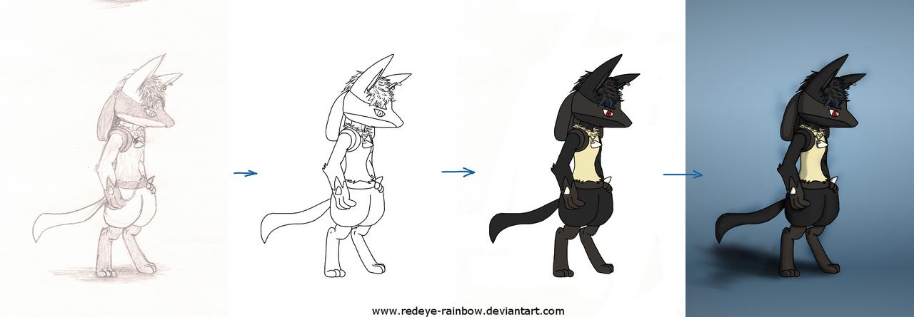 New Hair: Process by Redeye-Rainbow