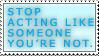 Don't be a Poser Stamp by Meranii-Kaminski