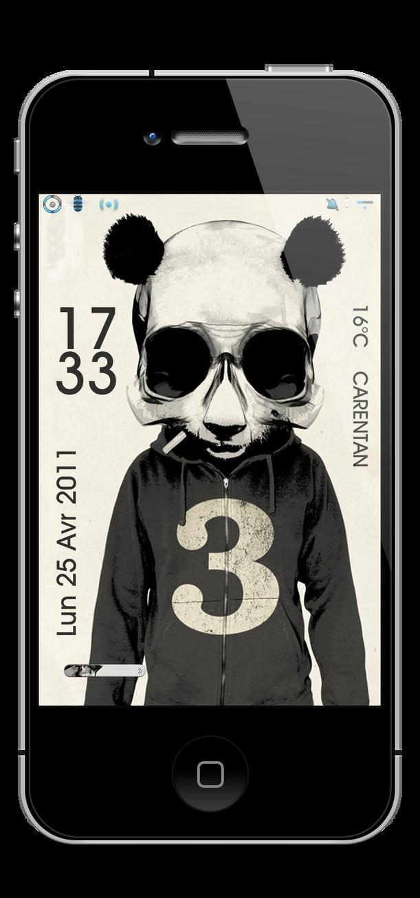 Lockscreen Bear by Laugend