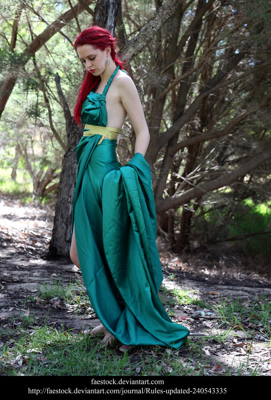 Green Silk 1 by faestock