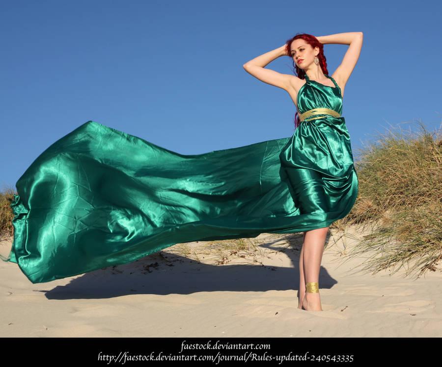 Green Silk 11 by faestock