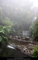 Misty Waterfall by faestock