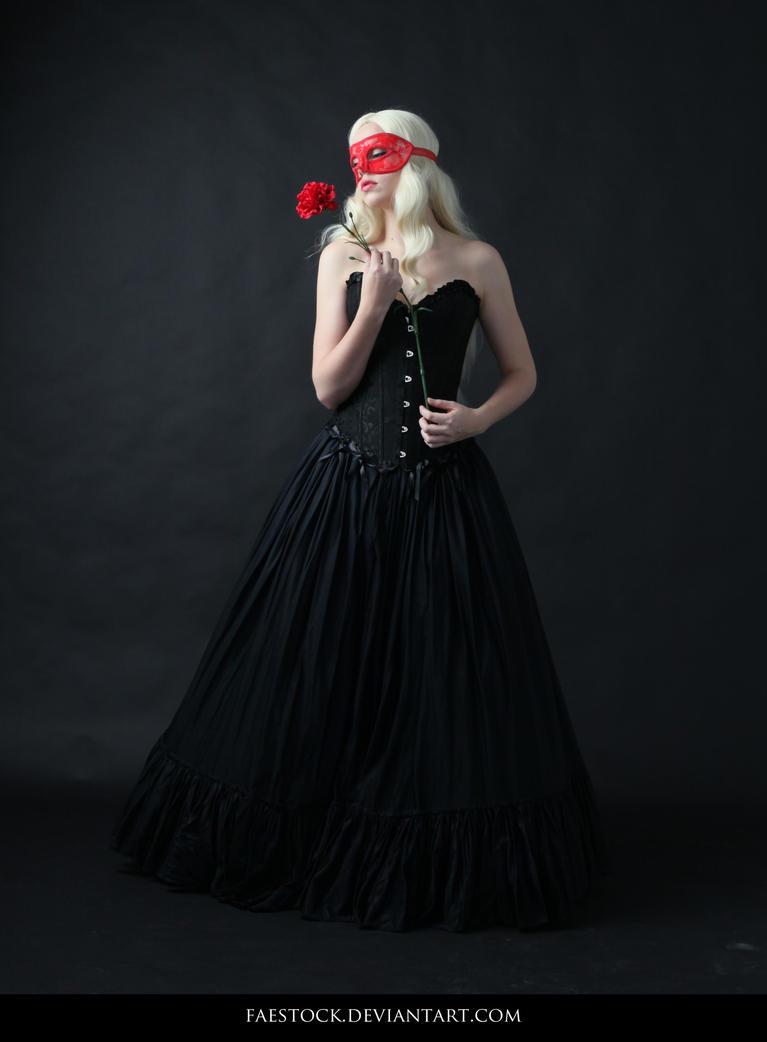 Dark Masquerade - Female Pose Reference 6 by faestock
