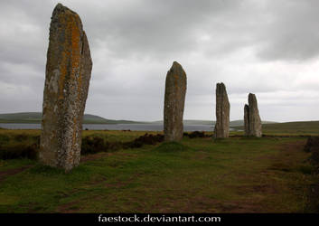 Orkney Ring of Brogdar - standing stone circle 10 by faestock