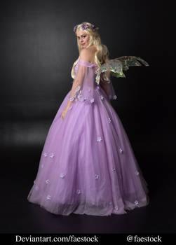 purple fairy - full length model stock pose 3