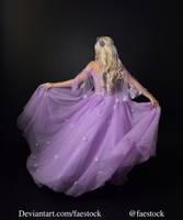 purple fairy - full length model stock pose  1