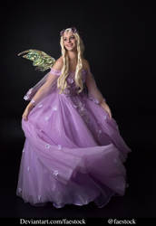 purple fairy - full length model stock pose 2 by faestock