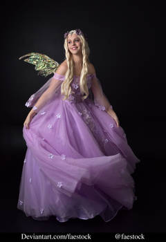purple fairy - full length model stock pose 2 by faestock