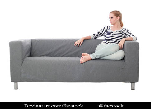 sitting on couch- full length model pose ref 1