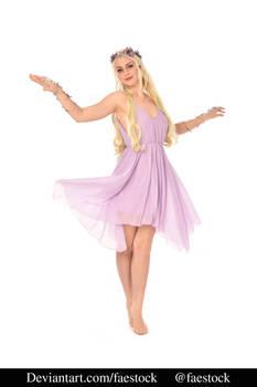 purple flower fairy- full length model pose 5
