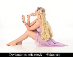 purple flower fairy- full length model pose 15