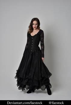 Black lace - full length model pose ref 2
