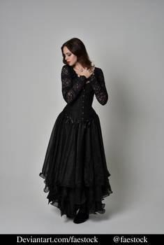 Black lace - full length model pose ref 4