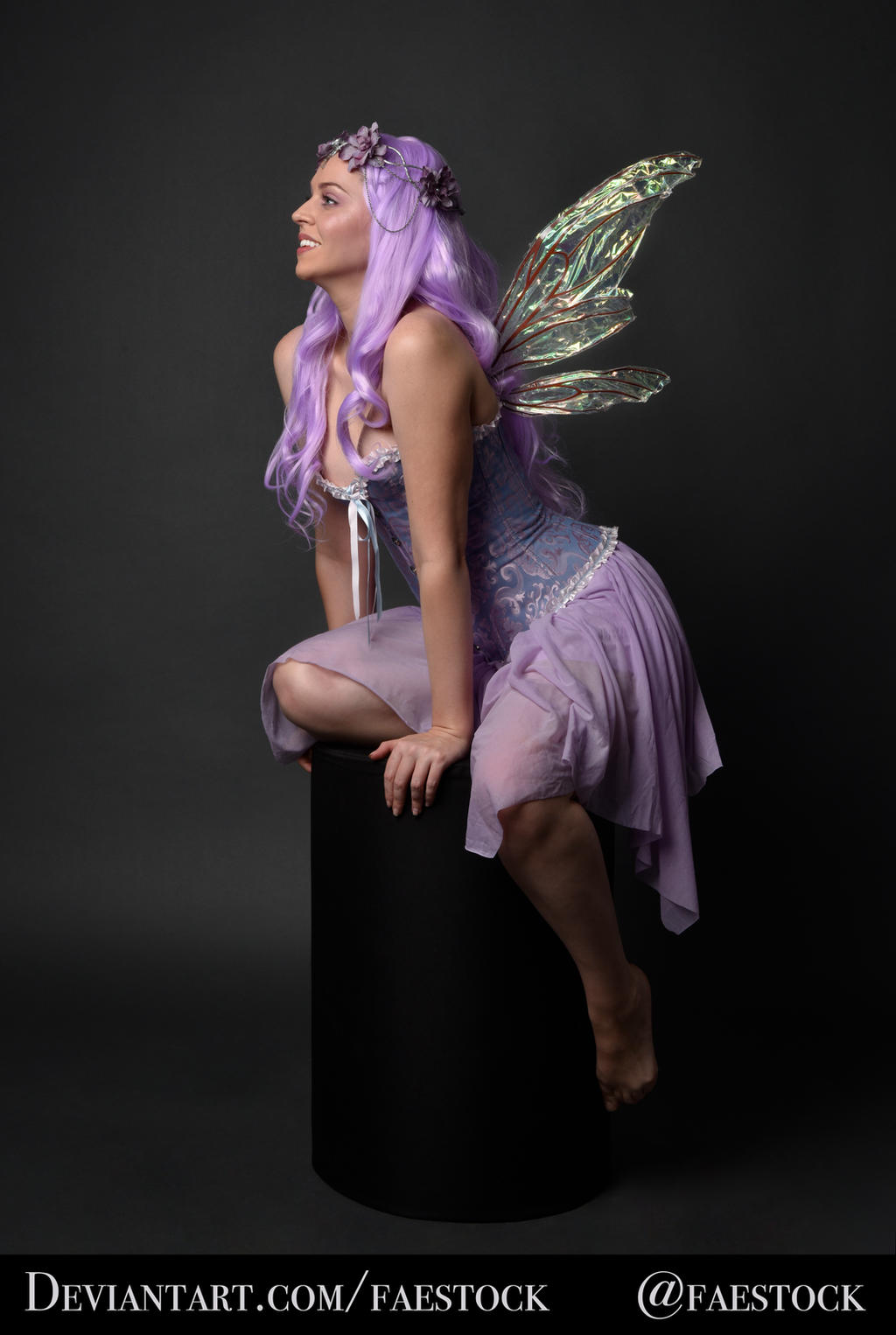 Purple Fairy - Full length pose reference photo 2