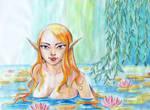 Elf in the water
