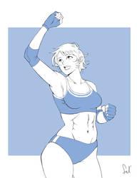 Commission - Wrestler girl
