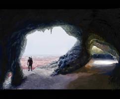 High mountain cave Barcelona warrior