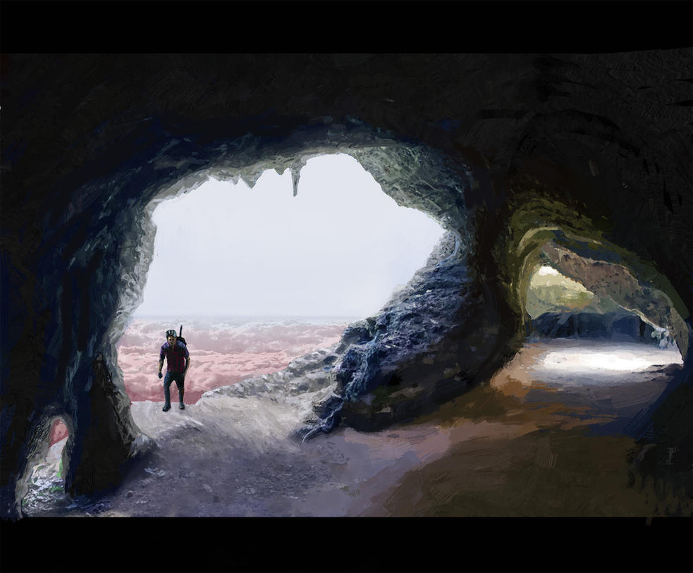 High mountain cave Barcelona warrior by BradyRain