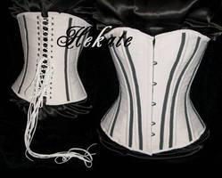 'Agonie' corset - handmade by Nocturnal-Garden